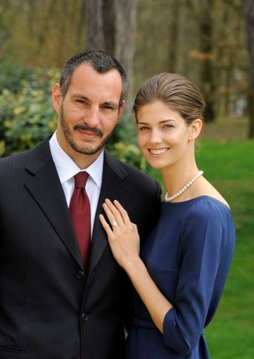 PR - 7 - Prince Rahim Aga Khan and his fiance Kendra Spears pose on April 15, 2013 in France. Photo by Gary OtteThe Ismaili via Getty Images