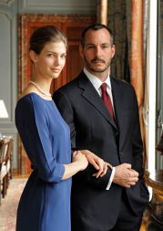 PR - 8 - Prince Rahim Aga Khan and his fiance Kendra Spears pose on April 15, 2013 in France. Photo by Gary OtteThe Ismaili via Getty Images