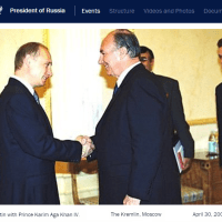 Retrospective: This day in 2002 - His Highness Prince Karim Aga Khan meets Russian President Putin at the Kremlin