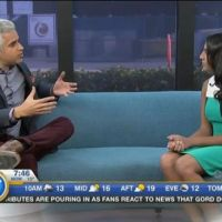 Attiya Hirji of Aga Khan Foundation Canada on Breakfast TV Vancouver, with host Riaz Meghji