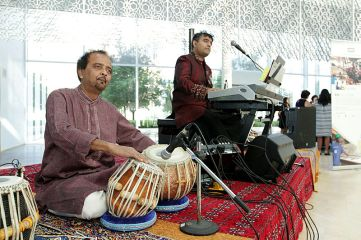 Members of Ottawa-based Afghan music group Mushfiq entertain guests at the Imamat Day celebration.(Image credit: The Hill Times / Sam Garcia)