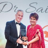 Dr. Saida Rasul receives Darpan Magazine's 2016 Annual Extraordinary Achievement Award for Advancing Philanthropy