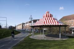 Inspired by a dance pavilion St. Louis-USA. Aga Khan Award for Architecture 2016 Winner: Superkilen, Copenhagen, Denmark