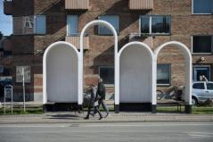 Bus stop from Kazakhstan. Aga Khan Award for Architecture 2016 Winner: Superkilen, Copenhagen, Denmark
