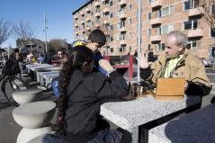Chess tables from Bulgaria. Aga Khan Award for Architecture 2016 Winner: Superkilen, Copenhagen, Denmark