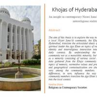 Khojas of Hyderabad: An insight into contemporary Nizari Isma'ili interreligious realities, by Sascha Stans