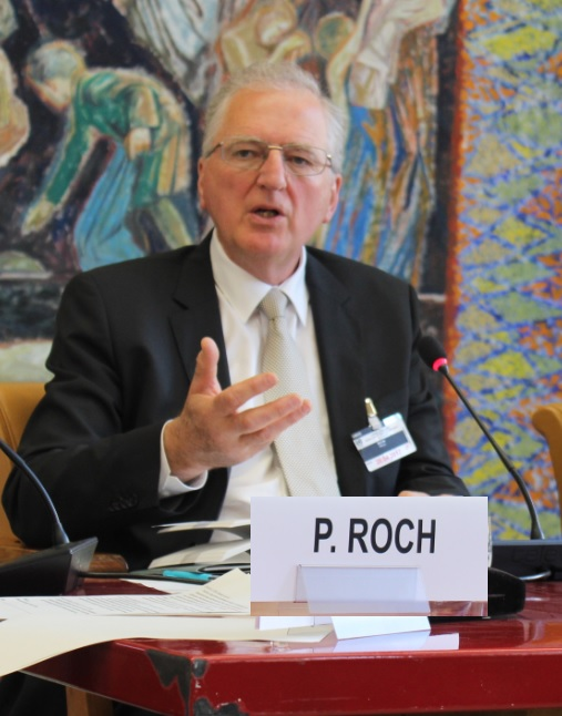 Dr. Philippe Roch during the panel discussions at the book launch of Prince Sadruddin Aga Khan: Humanitarian and Visionary (image credit: UN Library)