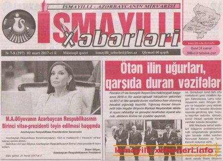"""""""İsmayıllı xəbərləri"""" –"""" 300"""