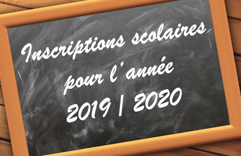 Informations relatives aux inscriptions 2019-2020