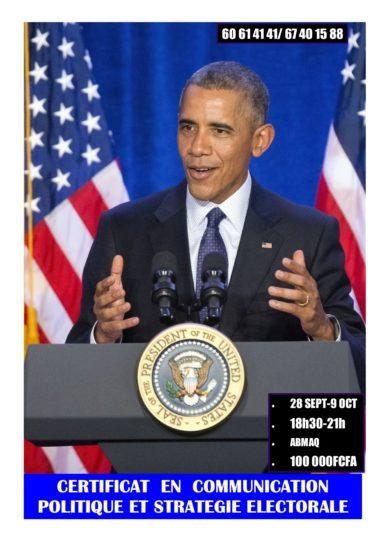 Du 28 septembre au 09 octobre devenez expert en communication politique et stratégie électorale