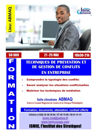 Du 21 au 25 mai, formez-vous en gestion des conflits à ABMAQ
