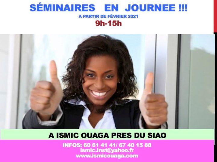 ISMIC Ouaga: Bientôt des séminaires en journée