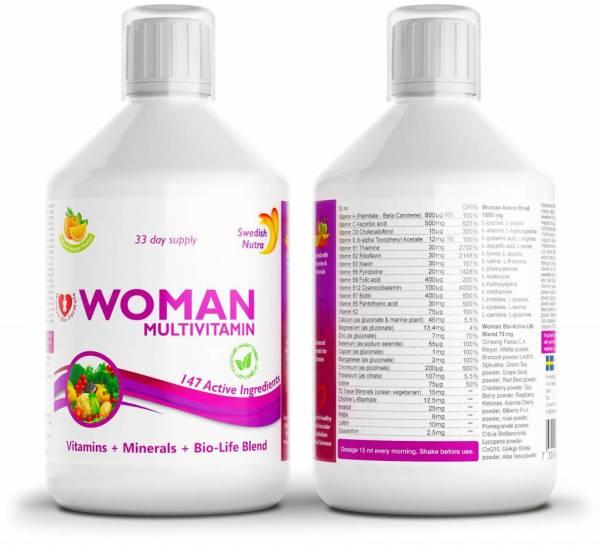 Vitamiinid naistele - auhinnatud swedish nutra multivitamiin
