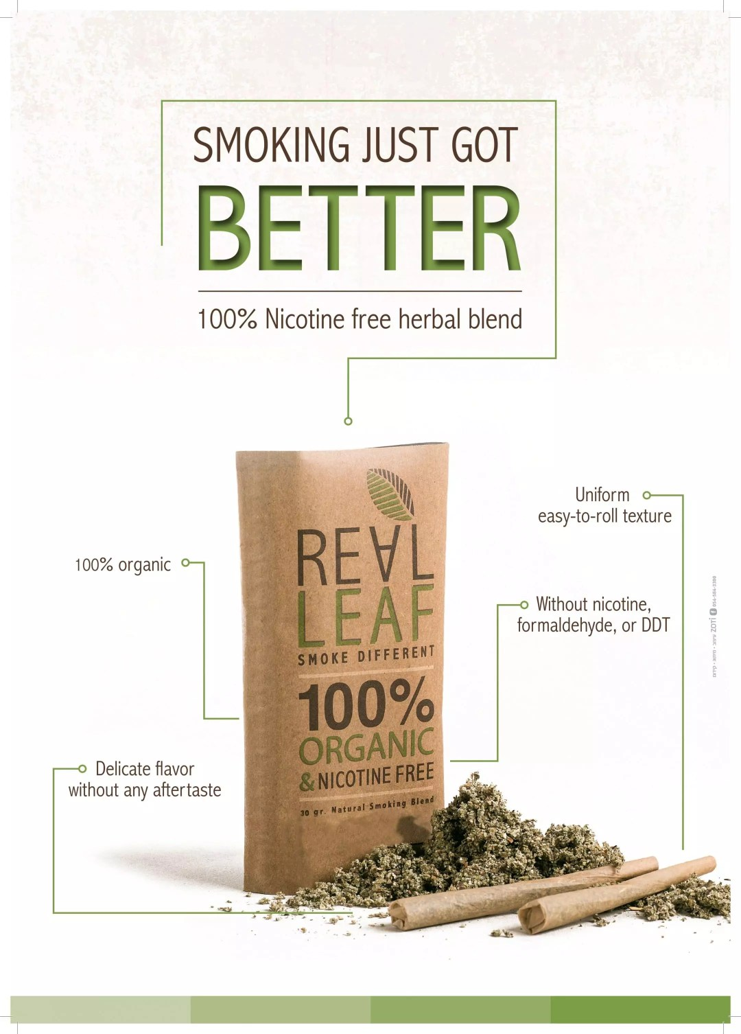 Real Leaf, REAL LEAF Tobacco Alternative, ISMOKE