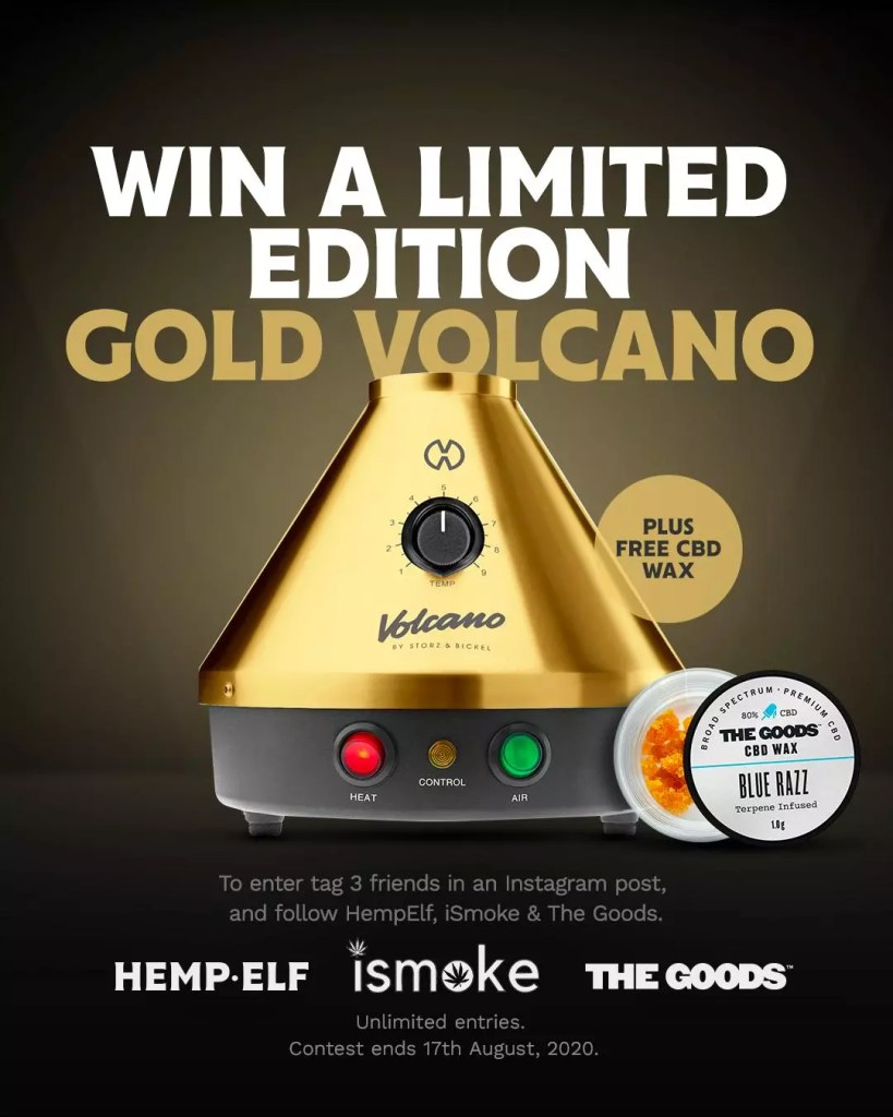 , WANT TO WIN A LIMITED EDITION GOLD VOLCANO VAPORIZER?