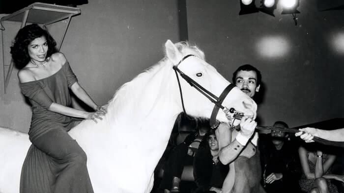 Bianca Jagger en Studio 54. Imagen: Rolling Stone