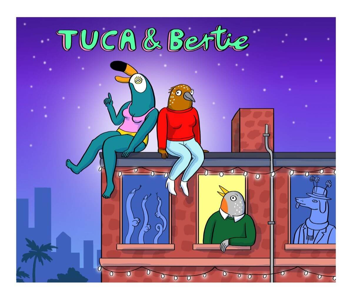Tuca & Bertie. Imagen: Netflix
