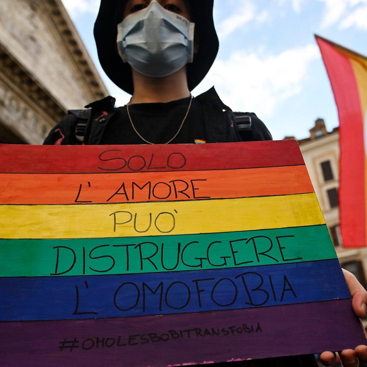 Italia aprueba proyecto de ley contra la misoginia y crímenes de odio hacia las personas LGBTQI+