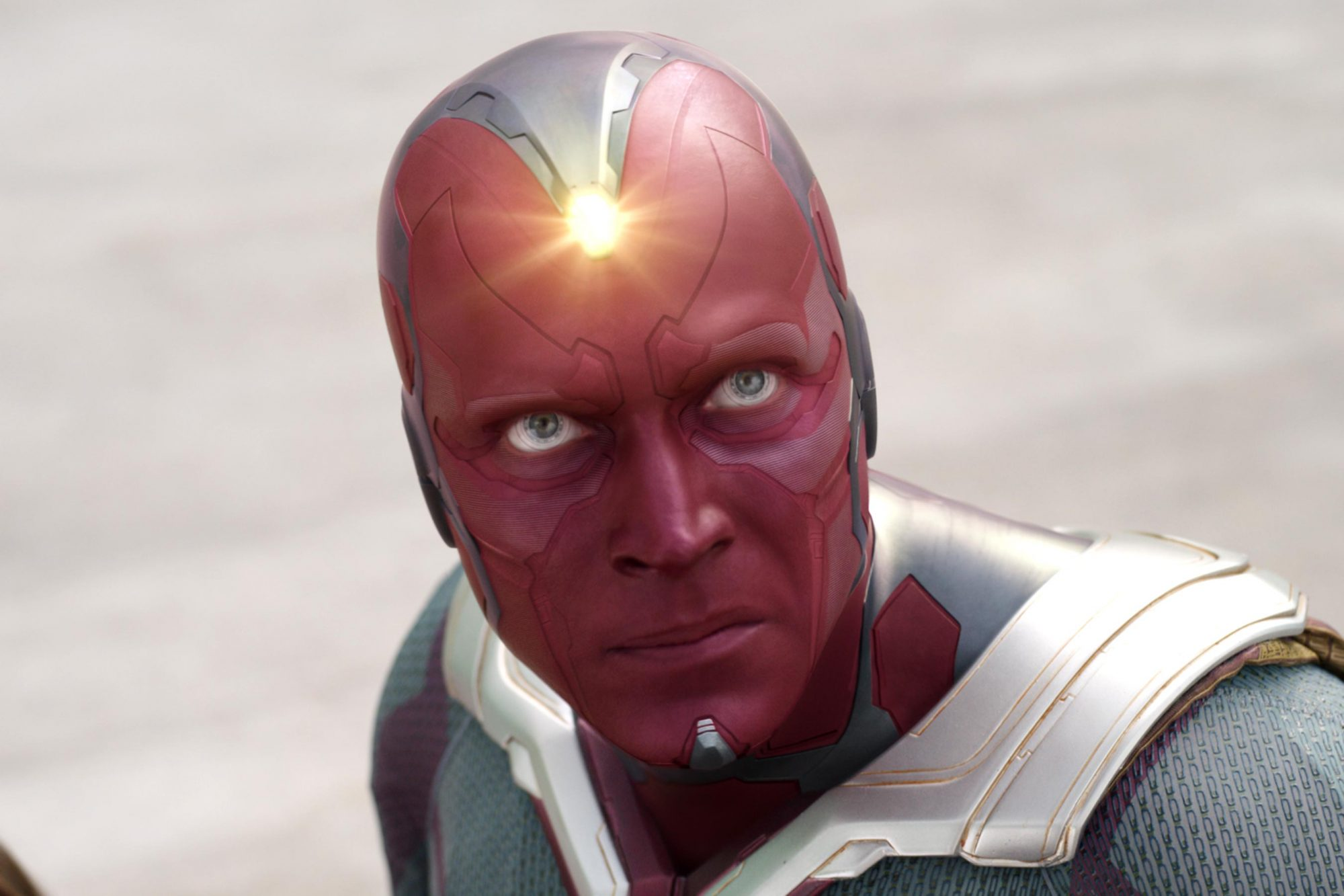"Vision en ""Avengers: Infinity War"". Fotografía: Marvel Studios/EW"