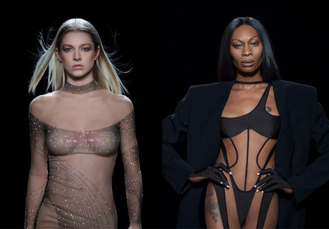 Hunter Schafer y Dominique Jackson deslumbran en la pasarela virtual de Mugler