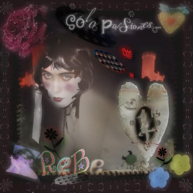 """Portada del álbum """"solo pasiones"""" de Rebe."""