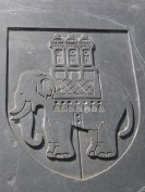Chubby Elephant with Castle