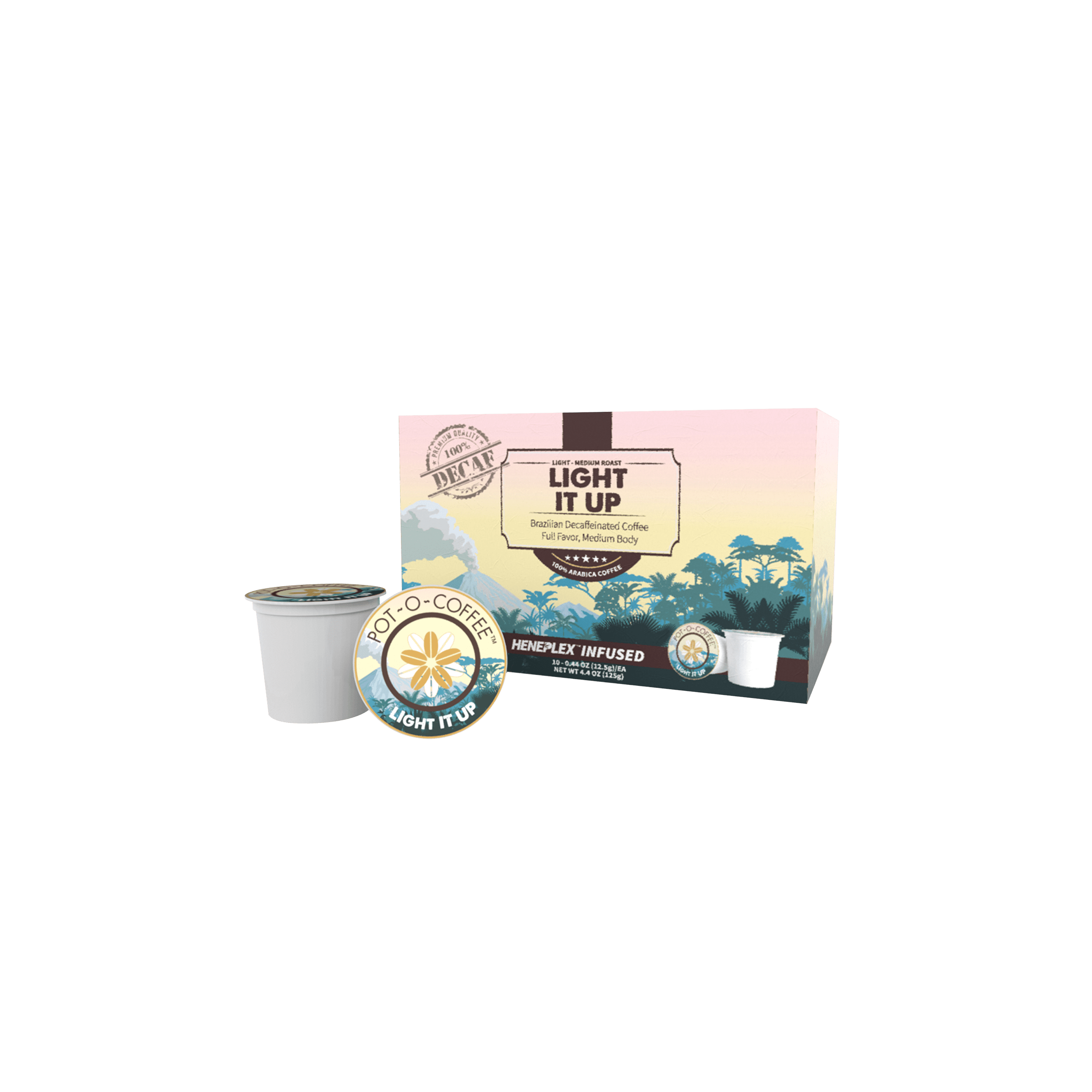 Pot-O-Coffee Light It Up – Decaf – K-Cup