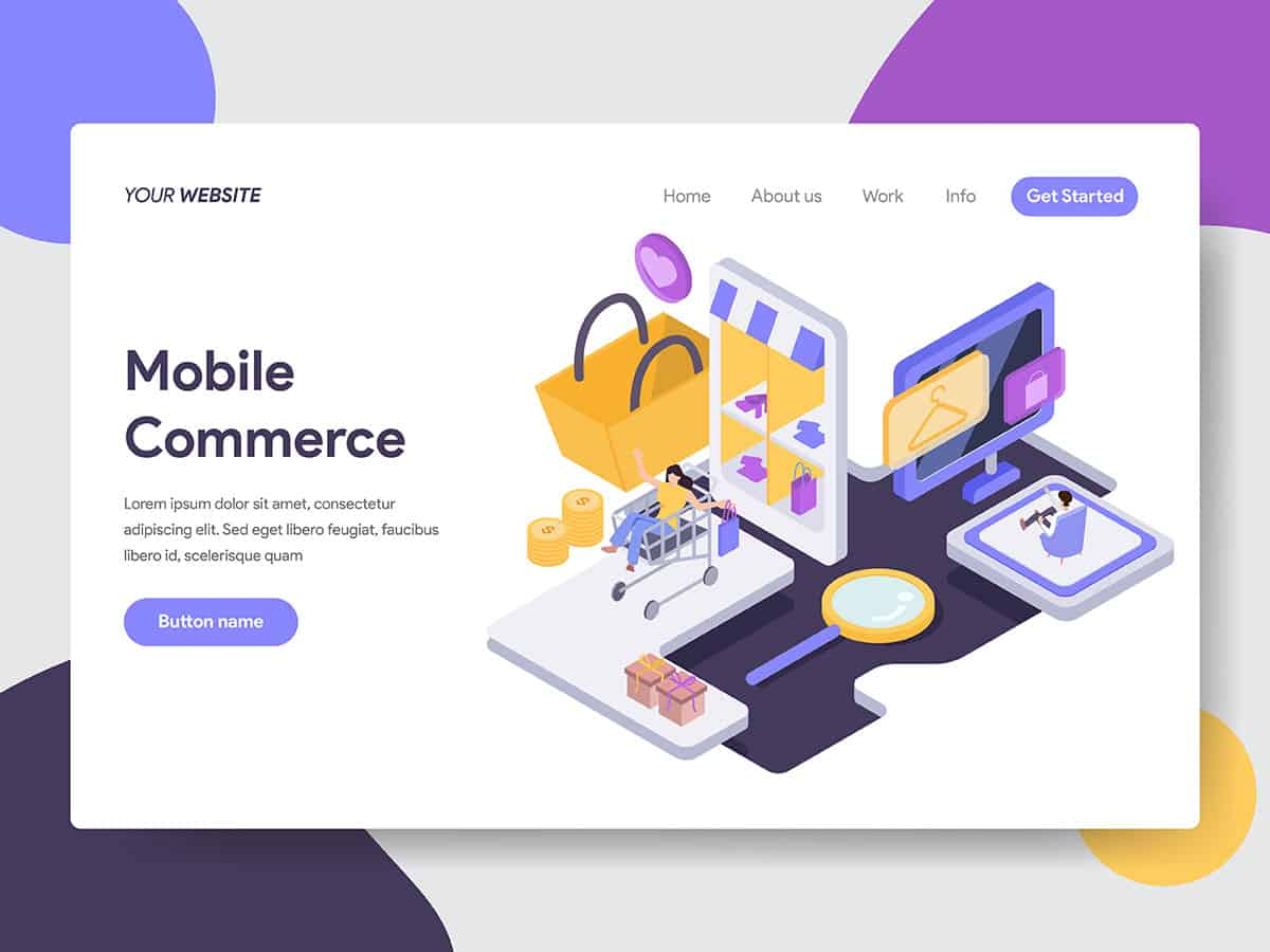 Mobile Commerce Illustration