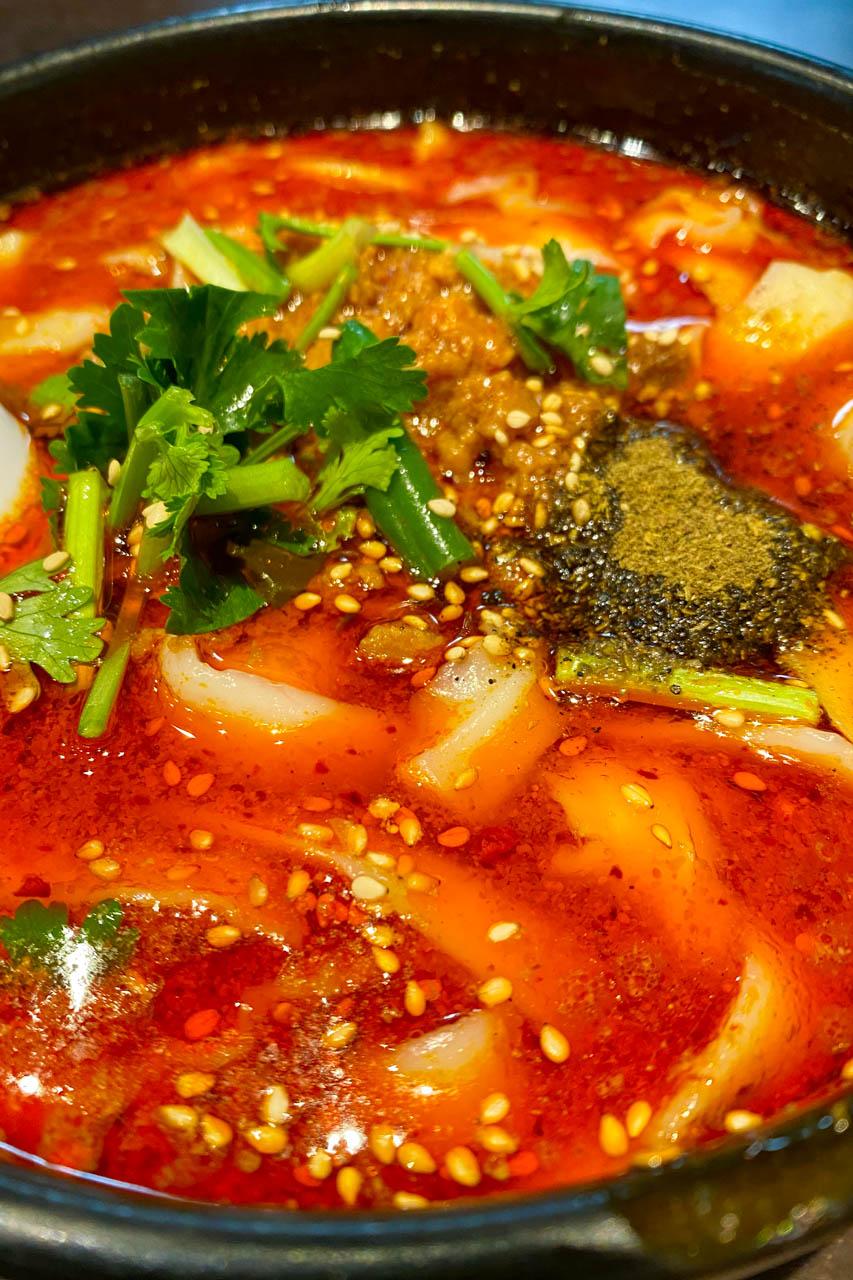 張家 麻辣刀削麺
