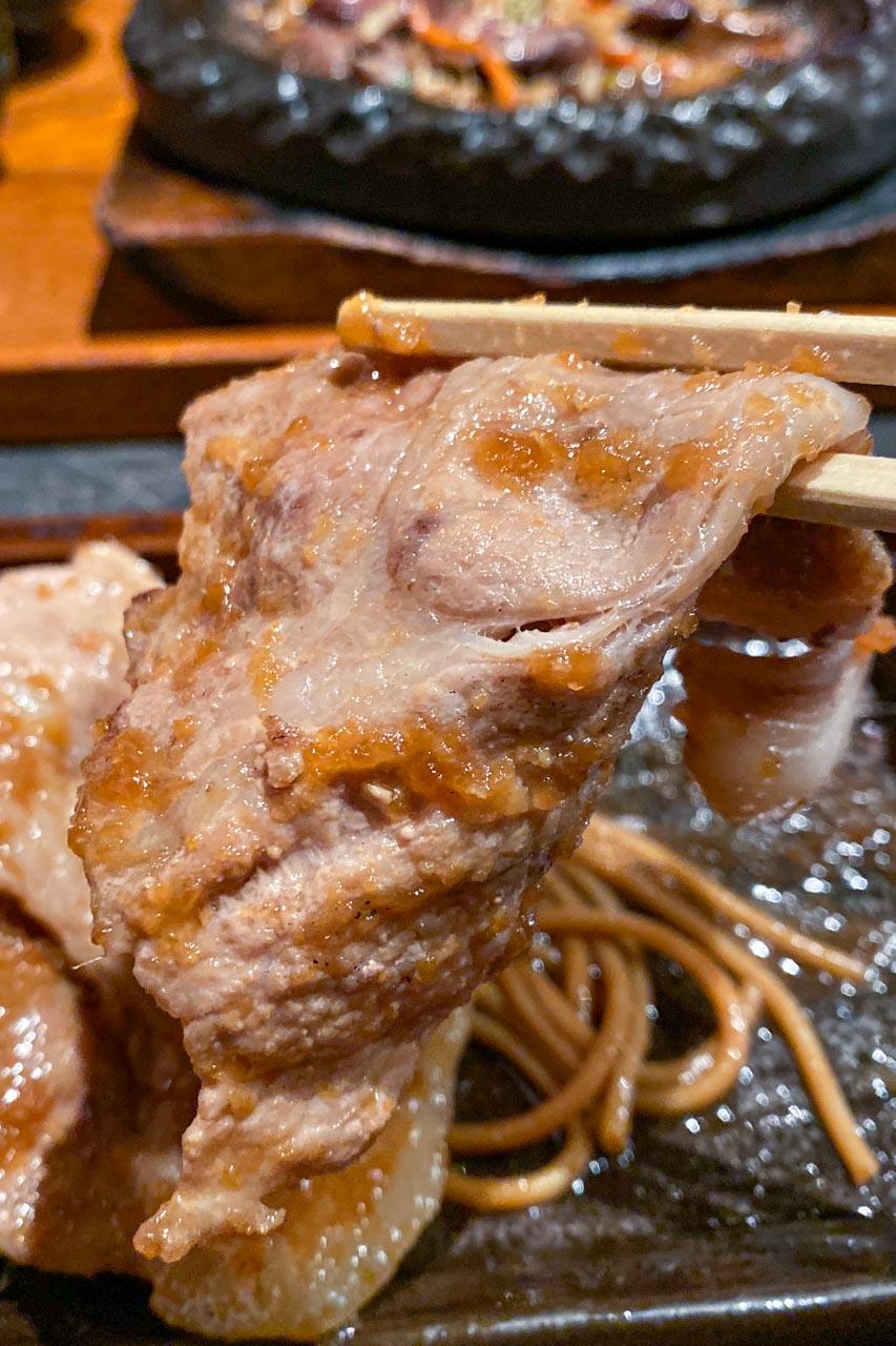 もつふく 豚肩ロース生姜焼き