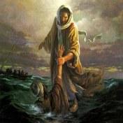 Christ raises peter