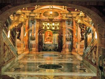 Petrus grave in St Peter's in Rome