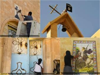 Islam vehementi destructioni ecclesiarum institerit apud Mosul