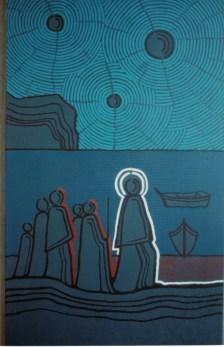 Gesu pescatore di uomini particolare cappella funeraria Noto