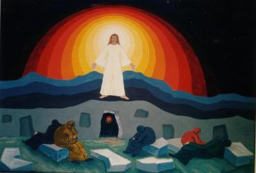 LA RESURREZIONE - TEMPERA 1996 - CM.50 X 35