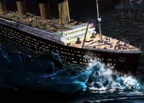 in Richtung titanic Eisberg 4