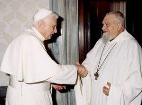 Enzo Bianchi mit Benedikt XVI