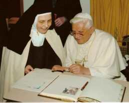 Carmelites of Quart Aosta Valley, Benedict XVI-001