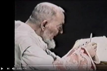 Padre Pio a célébré la messe