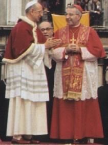 Paul VI con el cardenal Luciani