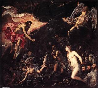 Tintoretto descent into hell