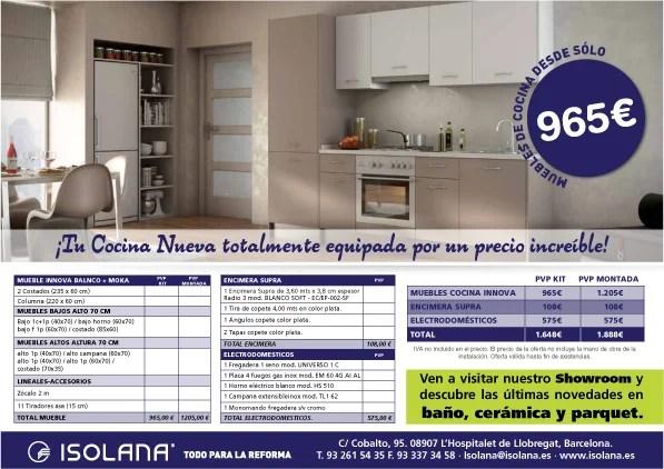 Oferta muebles de cocina isolana for Muebles de cocina on line ofertas