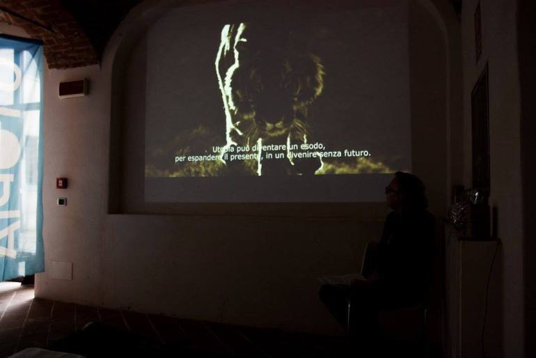 Il presente espanso, video Mariette Schiltz (foto: Barbara Barberis)