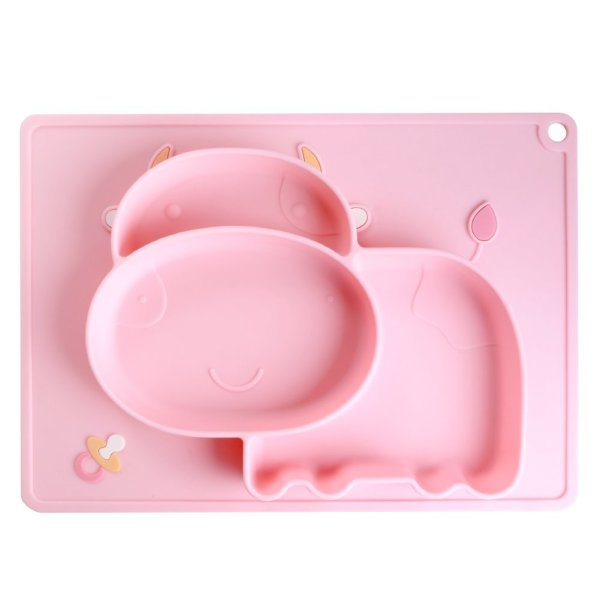 iSolem Baby Silicone Placemat, Non-Slip Toddlers Food Feeding Mat 51hZqJ66LHL