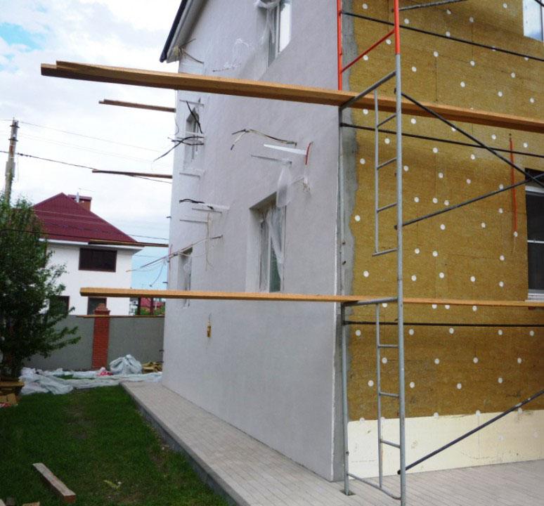 Утепление наружных стен из шлакоблоков