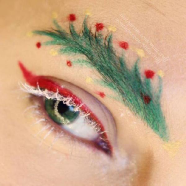 image10-54 | Новый новогодний тренд в современной моде — брови-ёлки!