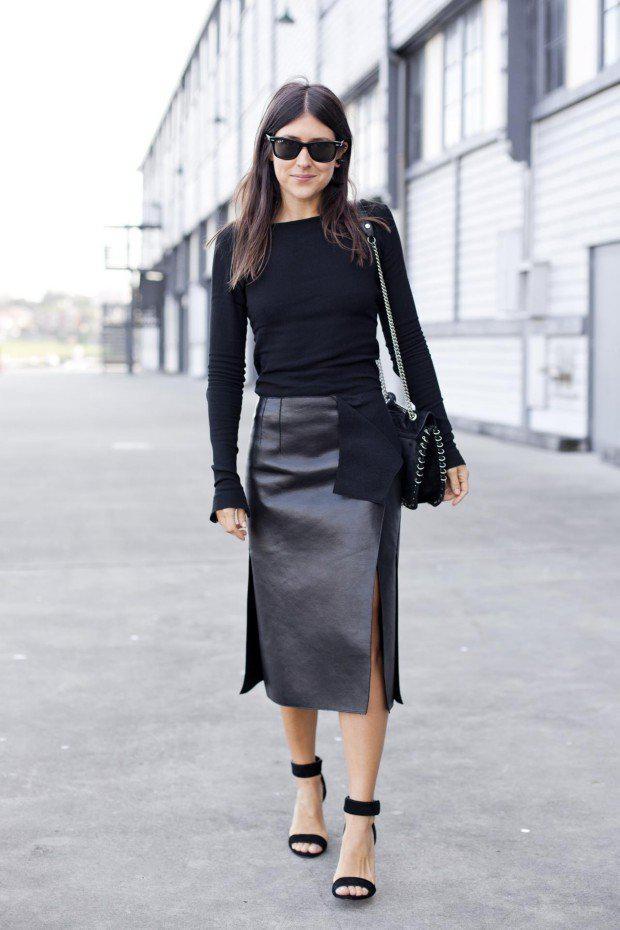 image16-8   27 стильных образов с юбками, которые заставят вас позабыть о брюках!