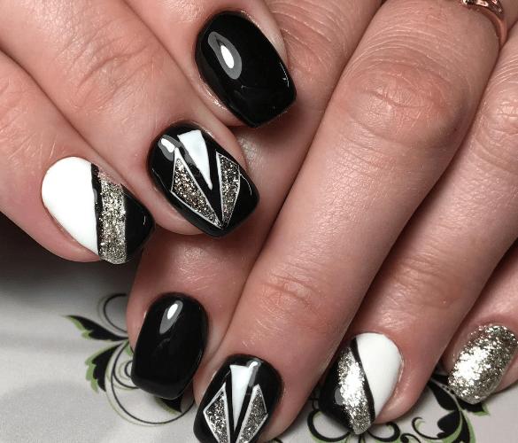 image24-1 | Черно-белая классика: идеи маникюра для элегантных девушек