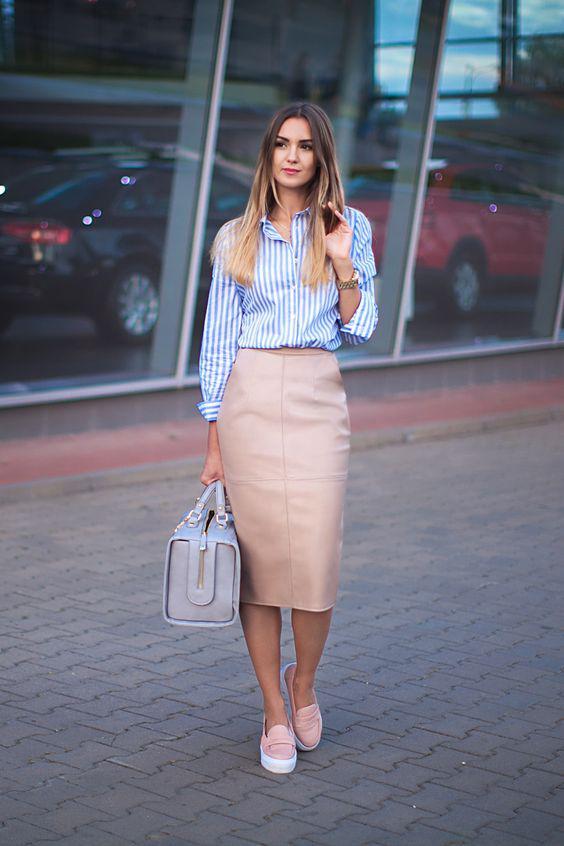 image3-76   27 стильных образов с юбками, которые заставят вас позабыть о брюках!