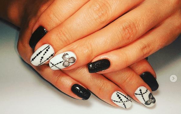 image35 | Черно-белая классика: идеи маникюра для элегантных девушек